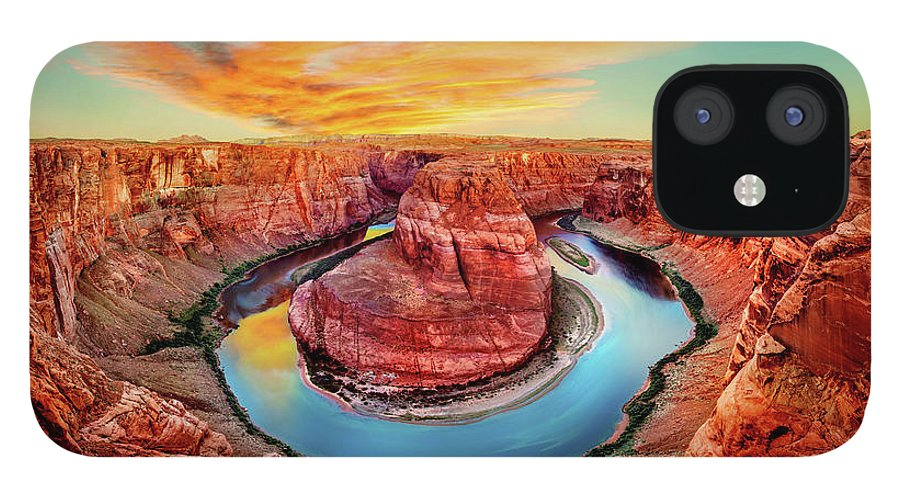Horseshoe Bend iPhone 12 Case featuring the photograph Red Planet by Az Jackson