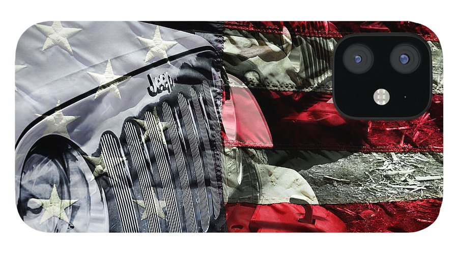 Jeep IPhone 12 Case featuring the photograph Red White and Jeep by Luke Moore
