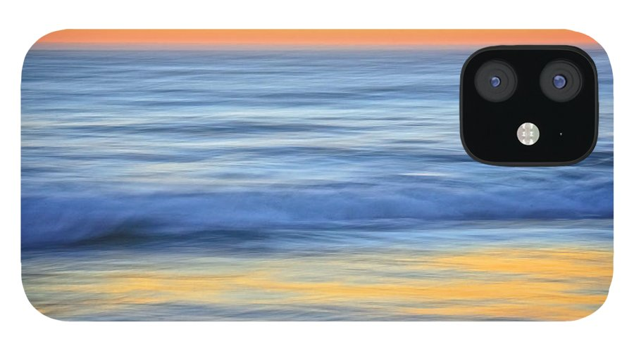 Nature IPhone 12 Case featuring the photograph Reflection Gold by Zayne Diamond Photographic
