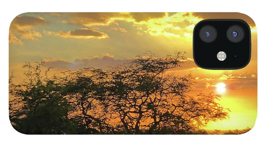 Hawaii IPhone 12 Case featuring the photograph Reflections Sunset Hawaii by Heather Coen