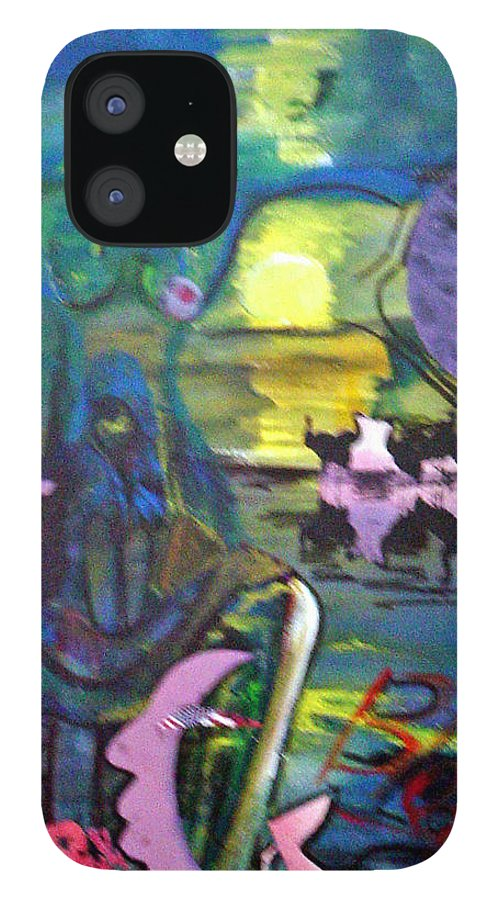 Water IPhone 12 Case featuring the painting Remembering 9-11 by Peggy Blood