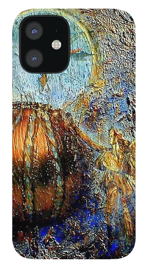 Christian iPhone 12 Case featuring the mixed media Revelation by Gail Kirtz