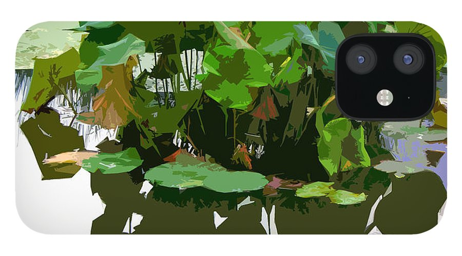 Lotus iPhone 12 Case featuring the photograph Ripples on the Lotus Pond by John Lautermilch