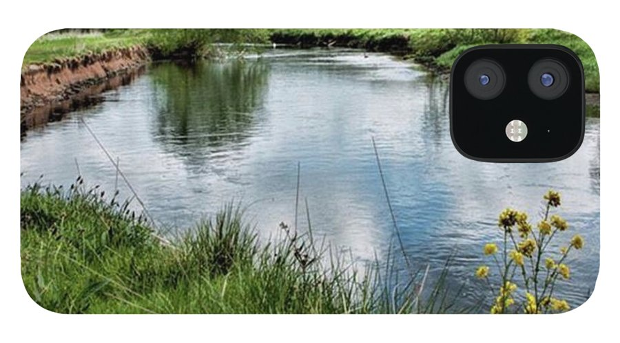 Nature_perfection IPhone 12 Case featuring the photograph River Tame, Rspb Middleton, North by John Edwards