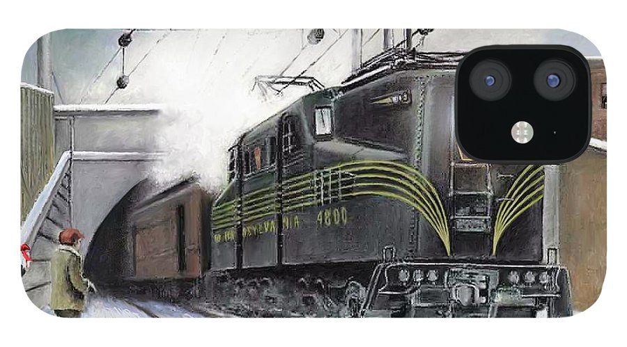 Pennsylvania Railroad IPhone 12 Case featuring the painting Rivets by David Mittner