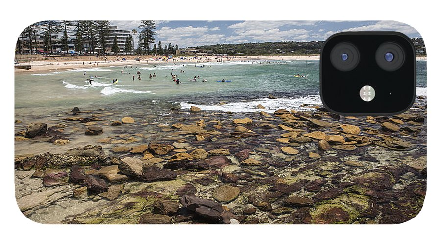 Rocks IPhone 12 Case featuring the photograph Rocks at Dee Why Beach by Sheila Smart Fine Art Photography