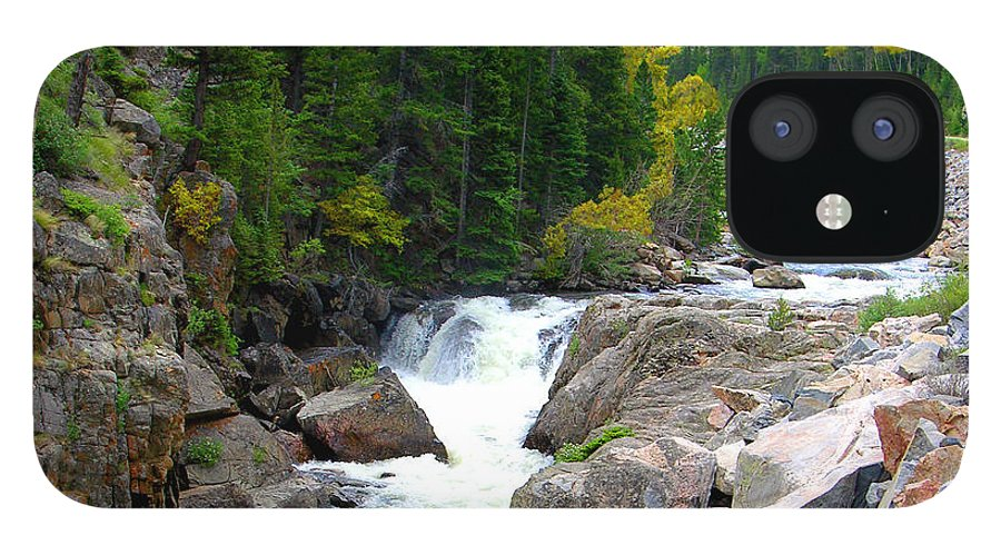 Landscape iPhone 12 Case featuring the photograph Rocky Mountain Stream by John Lautermilch