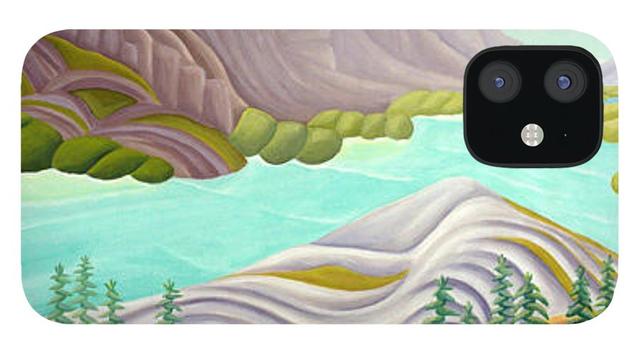 Landscape IPhone 12 Case featuring the painting Rocky Mountain View 6 by Lynn Soehner
