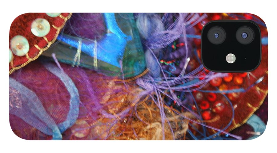 IPhone 12 Case featuring the mixed media Ruby Slippers 6 by Judy Henninger