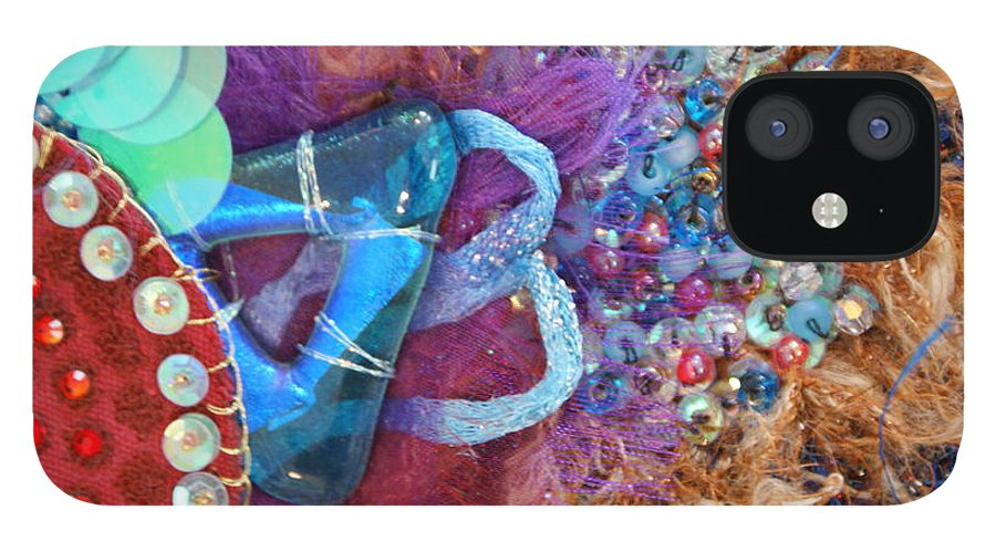 IPhone 12 Case featuring the mixed media Ruby Slippers 8 by Judy Henninger