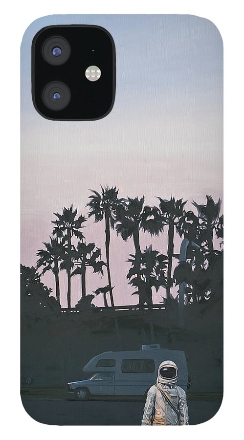 Astronaut IPhone 12 Case featuring the painting RV Dusk by Scott Listfield