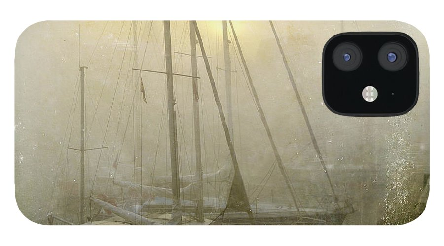 Boat IPhone 12 Case featuring the photograph Sailboats in Honfleur. Normandy. France by Bernard Jaubert