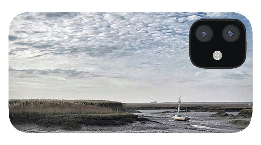 Beautiful IPhone 12 Case featuring the photograph Salt Marsh And Creek, Brancaster by John Edwards