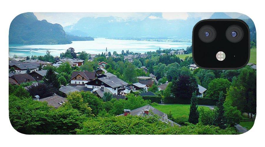 Austria IPhone 12 Case featuring the photograph Salzburg Lake District by Carol Groenen