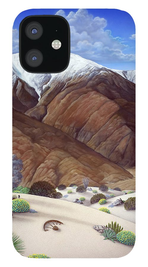 Desert iPhone 12 Case featuring the painting Snow Creek by Snake Jagger