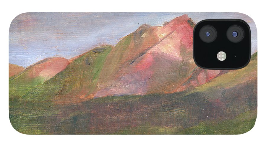 Colorado iPhone 12 Case featuring the painting Sangres I by Lilibeth Andre