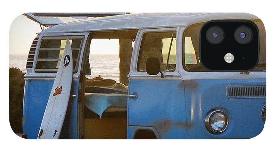 Volkswagen IPhone 12 Case featuring the photograph VW and Surfboard by Hal Bowles