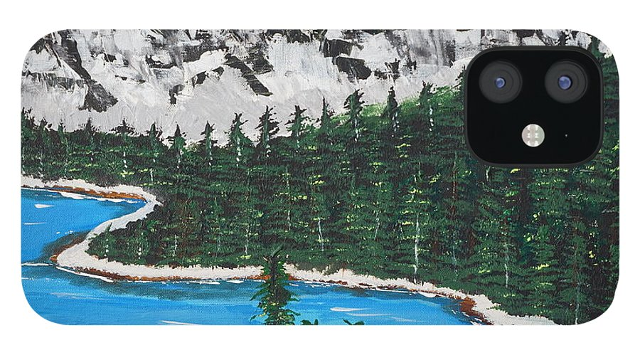 Landscape IPhone 12 Case featuring the painting Scenic View by Jimmy Clark