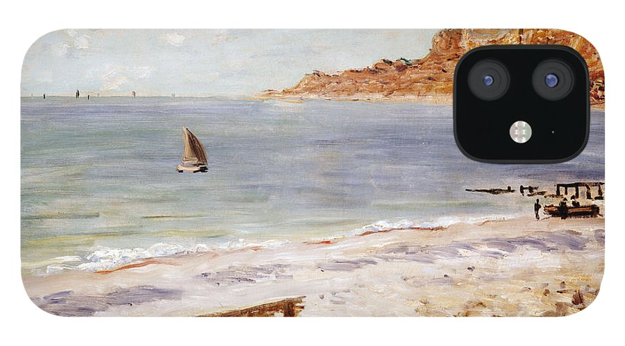 Seascape At Sainte-adresse By Claude Monet IPhone 12 Case featuring the painting Seascape at Sainte Adresse by Claude Monet