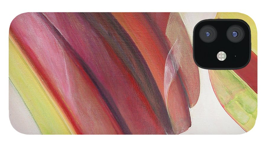 Abstract IPhone 12 Case featuring the painting Sens 3 by Muriel Dolemieux
