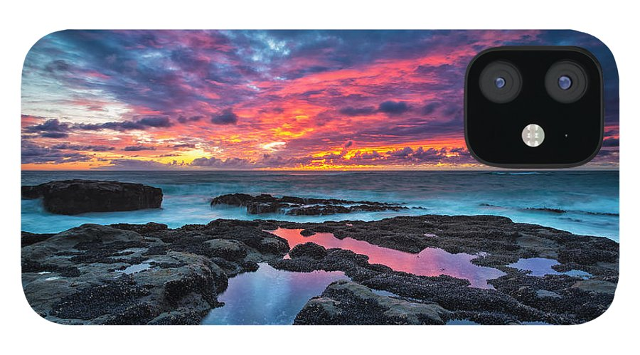 Sunset IPhone 12 Case featuring the photograph Serene Sunset by Robert Bynum