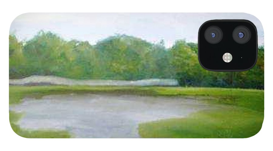 Landscape IPhone 12 Case featuring the painting Serene Vista by Sheila Mashaw