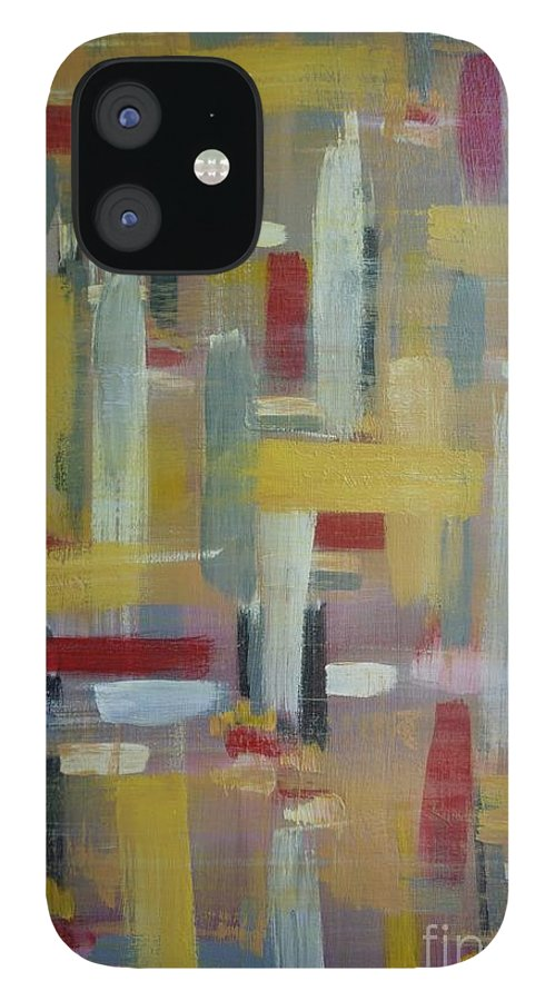 Abstract IPhone 12 Case featuring the painting Serenity by Jimmy Clark