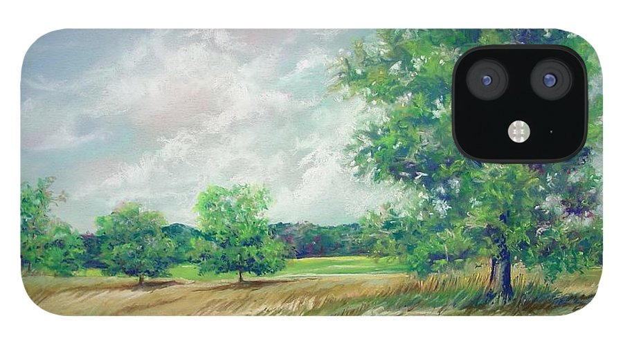 Pastel IPhone 12 Case featuring the painting Serenity by Marlene Gremillion