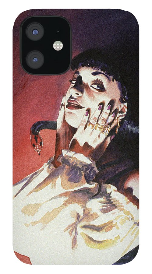 Women IPhone 12 Case featuring the painting Set by Ken Meyer jr