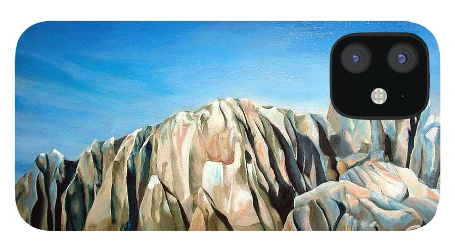 Paysage IPhone 12 Case featuring the painting Seychelles by Muriel Dolemieux