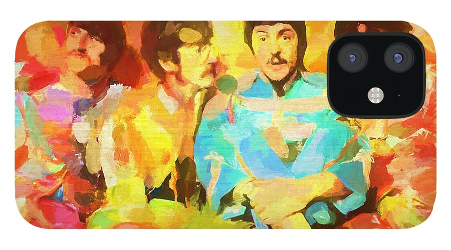 Sgt. Peppers Lonely Hearts IPhone 12 Case featuring the painting Sgt. Peppers Lonely Hearts by Dan Sproul