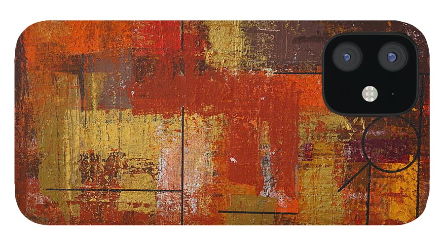 Acrylic IPhone 12 Case featuring the painting Shades of FALL by Jimmy Clark