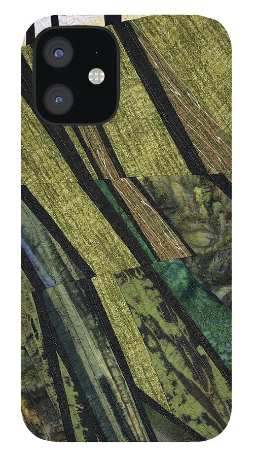 Shadow IPhone 12 Case featuring the tapestry - textile Shadows on the Lawn by Linda Beach