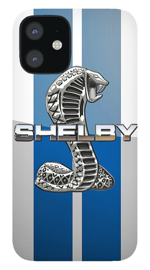 'auto Badges' Collection By Serge Averbukh IPhone 12 Case featuring the photograph Shelby Cobra - 3D Badge by Serge Averbukh