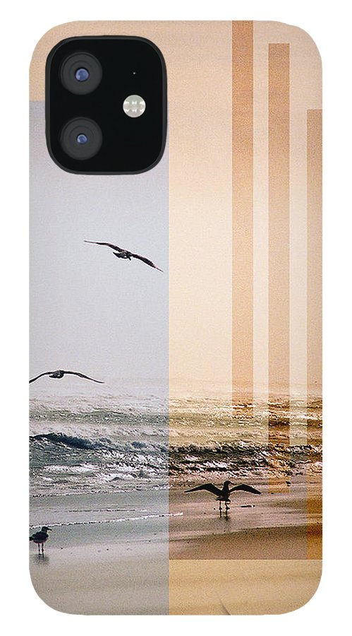 Abstract IPhone 12 Case featuring the photograph Shore Collage by Steve Karol