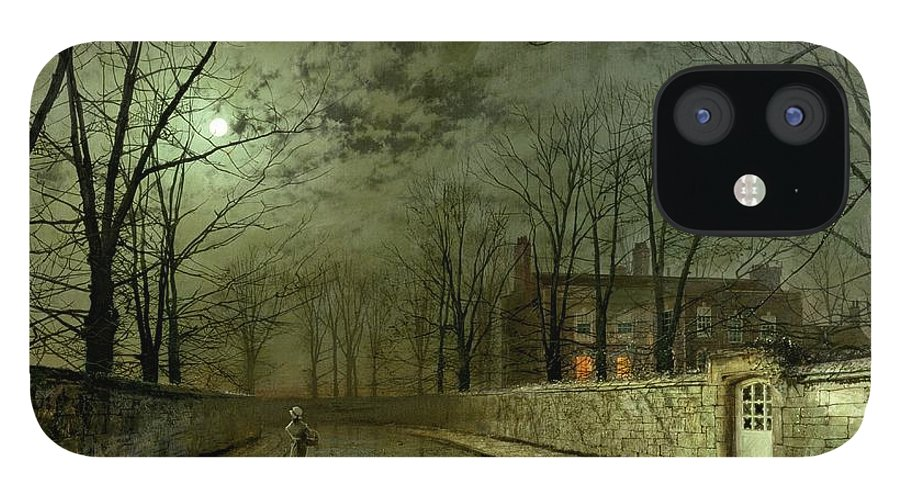 Silver Moonlight IPhone 12 Case featuring the painting Silver Moonlight by John Atkinson Grimshaw