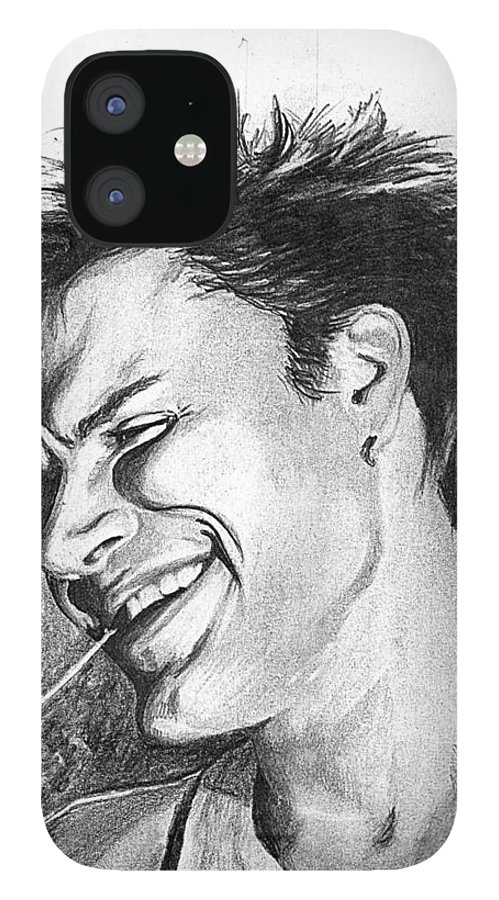 Simon Man Face Portrait Young Fresh Smile IPhone 12 Case featuring the drawing Simon by Veronica Jackson