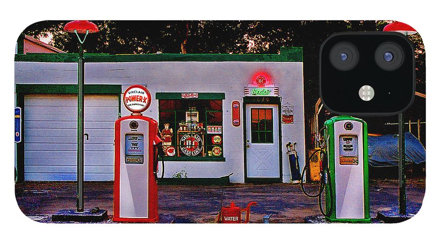 Gas Station IPhone 12 Case featuring the photograph Sinclair by Steve Karol