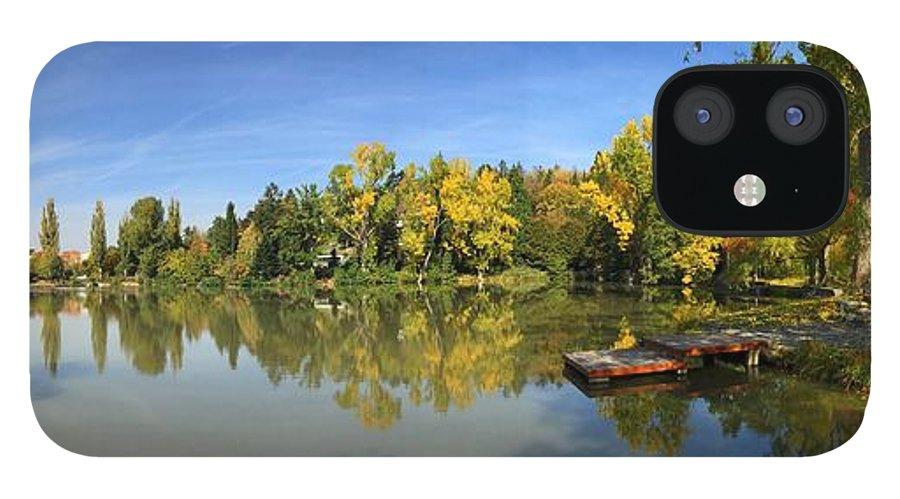 Sindelfingen IPhone 12 Case featuring the photograph Sindelfingen Germany Lake Klostersee Panorama by Matthias Hauser