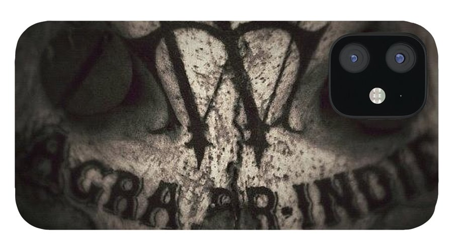 Sevendead IPhone Case featuring the photograph Skull by Dave Edens
