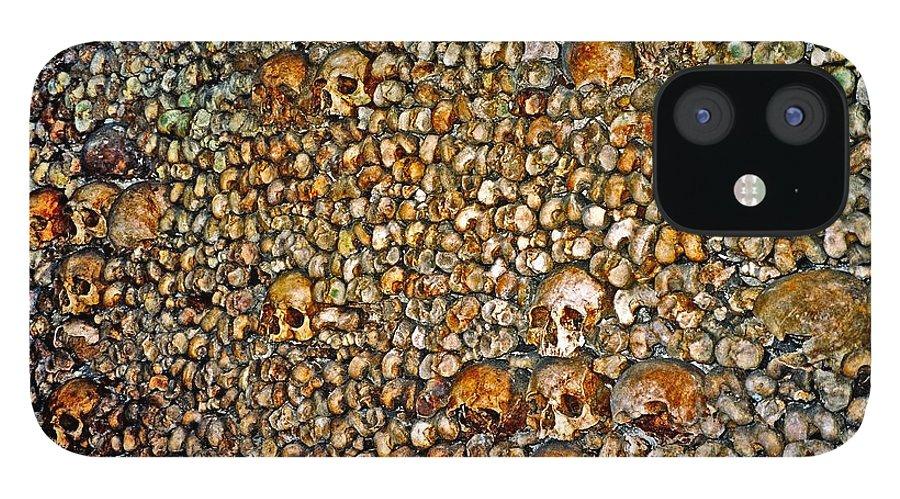 Skulls IPhone 12 Case featuring the photograph Skulls and Bones under Paris by Juergen Weiss