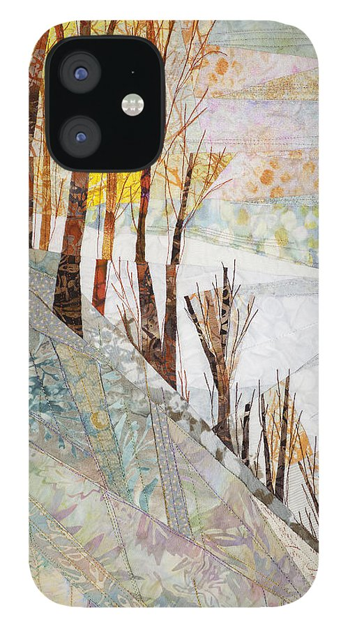 Tree IPhone 12 Case featuring the tapestry - textile Snowy Dawn by Linda Beach