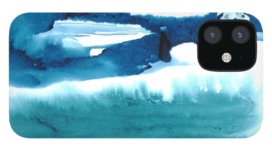 A Flock Of Snowy Egrets Standing In Snowy Country - A Watercolor Painting IPhone 12 Case featuring the painting Snowy Egrets by Mui-Joo Wee