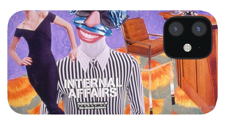 Woman iPhone 12 Case featuring the drawing Soap Scene #8 Internal Affairs Club by Minaz Jantz