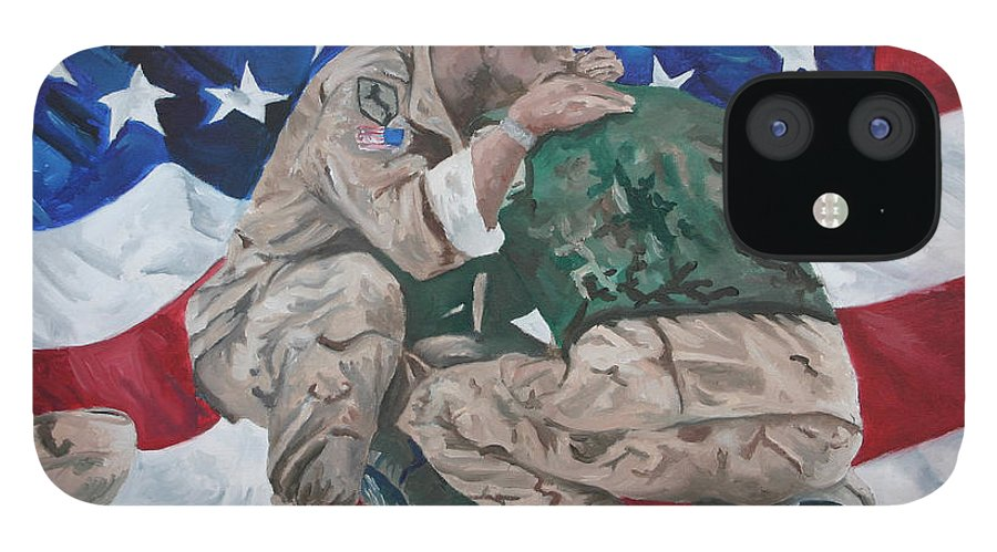Soldiers IPhone 12 Case featuring the painting Soldiers by Travis Day
