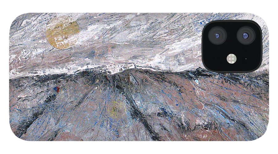 Mountains IPhone 12 Case featuring the painting Somewhere Higher by Rollin Kocsis