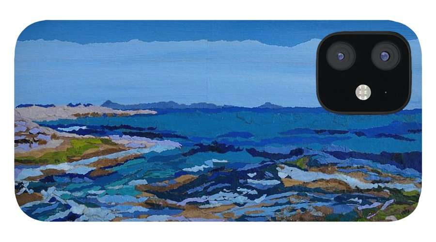 Ocean iPhone 12 Case featuring the painting Spanish Jewels, 2 by Leah Tomaino