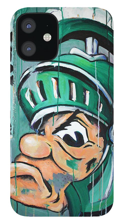Business IPhone 12 Case featuring the painting Spartans by Julia Pappas