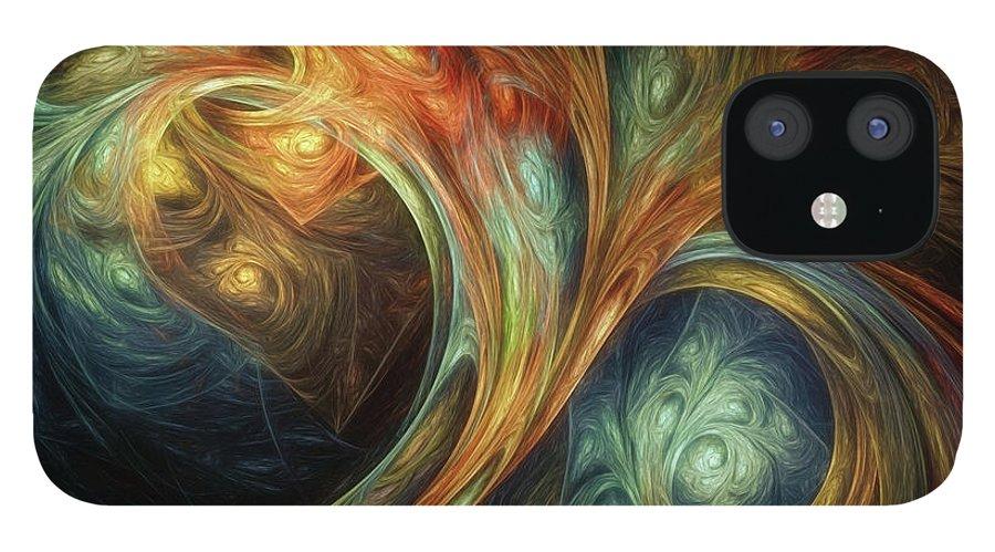 Scott Norris Photography iPhone 12 Case featuring the digital art Spiralem Ramus by Scott Norris