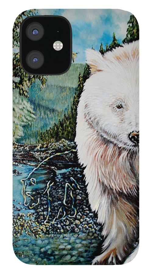 Spirit Bear IPhone 12 Case featuring the painting Spirit Bear by Susan Moore